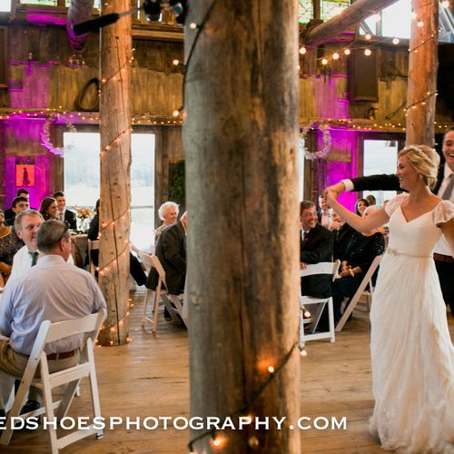 Ask about LED Uplighting! Chris & Ali's Wedding, The Barn at Evergreen Memorial Park, Sept 27, 2014.