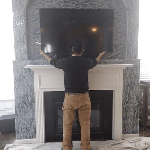 TV mounting.