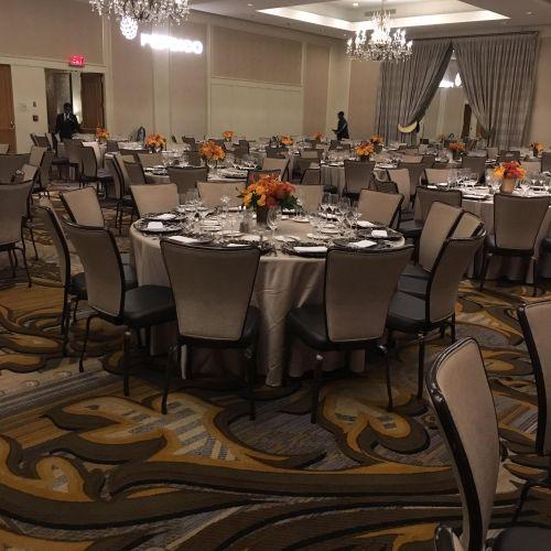 Room set for 500 guest