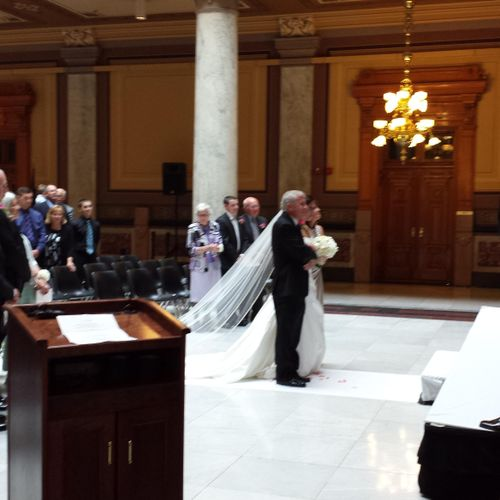 Wedding at Indiana State House, Indianapolis