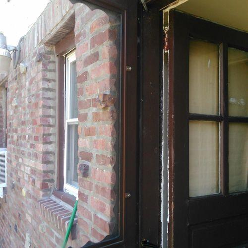 Storm door repair; $75
