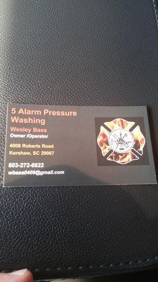 Avatar for 5 alarm pressure washing Kershaw, SC Thumbtack
