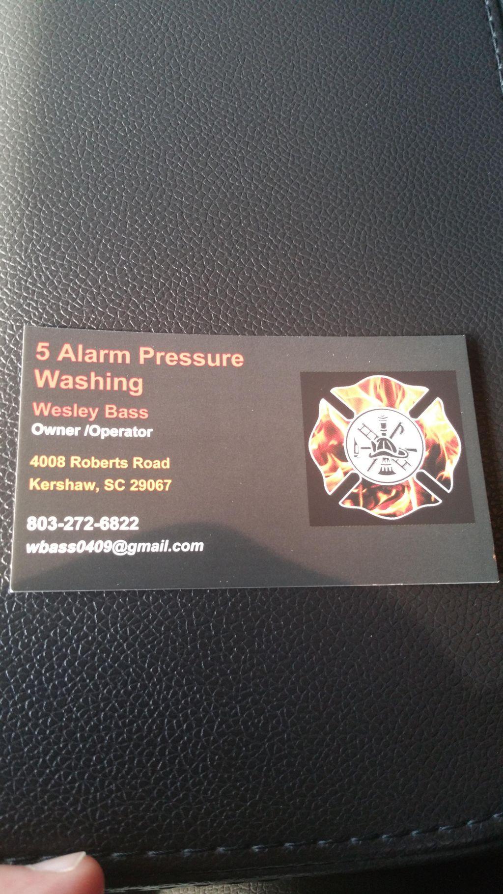 5 alarm pressure washing