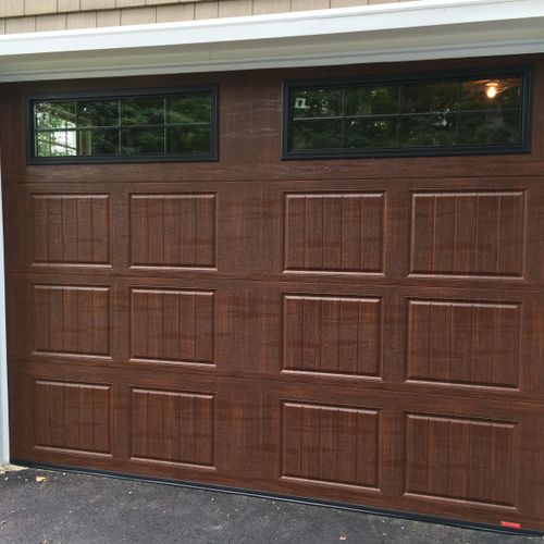 R value of 16 on this American walnut , insulated glass with black frames