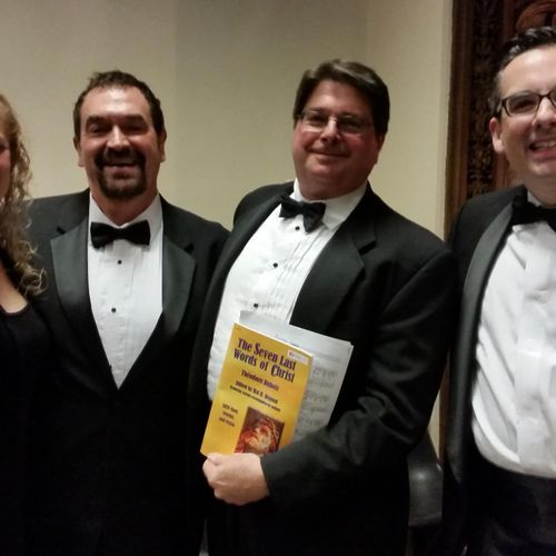 VOCE soloists and Conductor for The Last Words of Christ by DuBois at St. Joan of Arc, Indianapolis 2016.