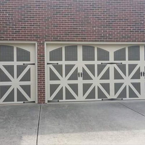 Barnyard doors operate like a garage door, but gives you the feeling of countryside living!