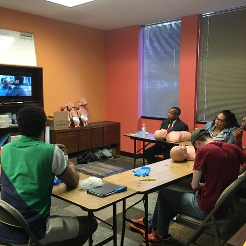 CPR training- viewing the video