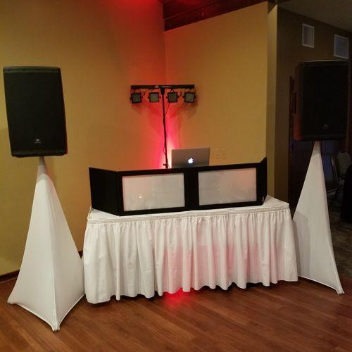 small Venue wedding setup