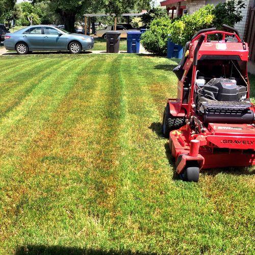 San Antonio Lawn Mowing, Lawn Stripes