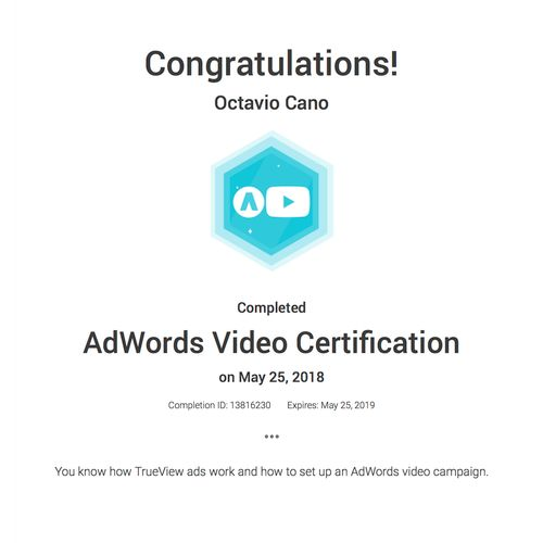 Youtube Video Certification