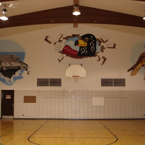 Forrestal Elementary School Gym in Great Lakes, IL