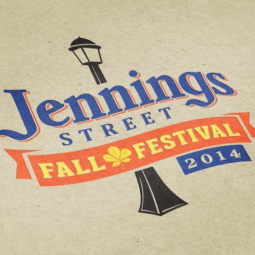 The AIDS Outreach Center in Fort Worth, Texas wanted to create a fun festive logo design with a vintage branded Fall season theme for a community outreach event called Jennings Street Fall Festival. Also designed a promotional poster, promo cards, and 6-ft. event banner.