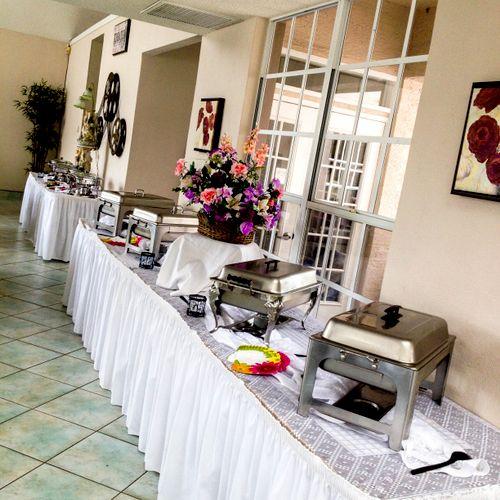 We have simple, yet elegant set-up and drop off arrangements.