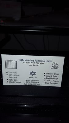 Avatar for D & M Welding Fences and Gates Rhome, TX Thumbtack