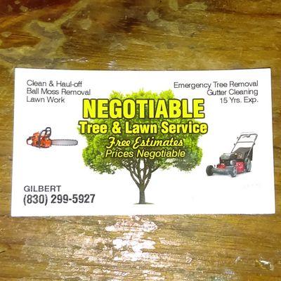 Avatar for Negotiable Tree & Yard Service's Kenedy, TX Thumbtack