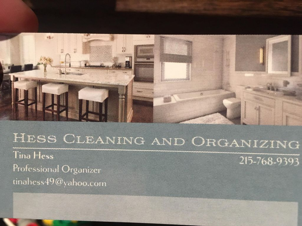 Hess Cleaning and Organization