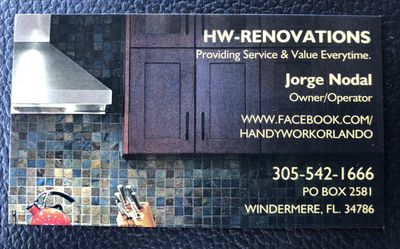 Avatar for HW - RENOVATIONS Windermere, FL Thumbtack
