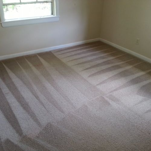 This is the after photo of the carpet cleaning job we recently completed. While some types of stains require additional spot treatment most drink and food stains come right out with no issues.