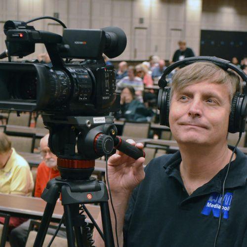 Recording a live event in Reno, Nevada.