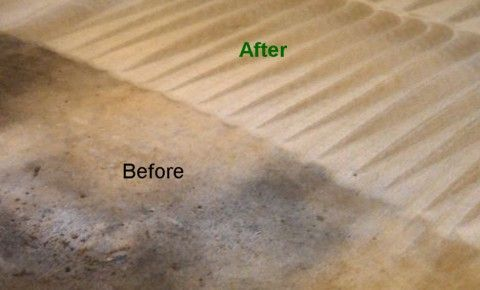 Before & After-CARPET CLEANING