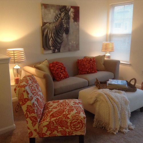 Living Room of Arverne, Queens Staging Project