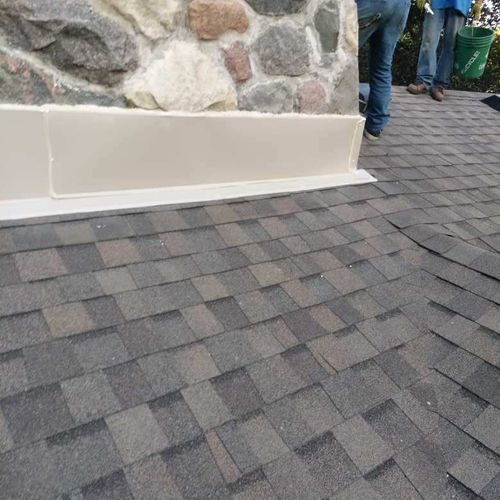 Chimney flashings are another critical point of leaking on your roof. Ensure they are tight and sealed!