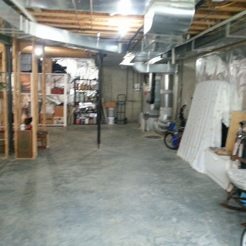 """This is the """"BEFORE"""" picture of the basement remodel we did in Stonehouse, Toano Virginia"""