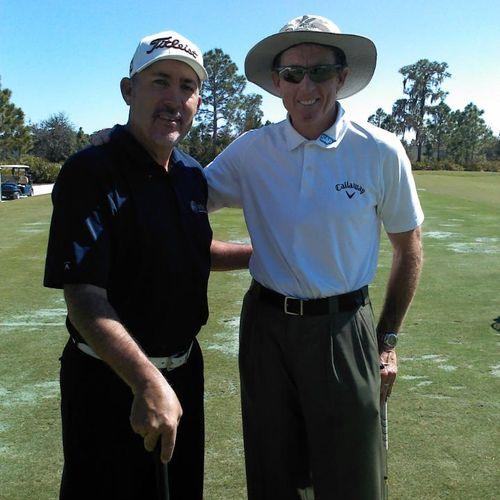 Good friends David Leadbetter and Steve