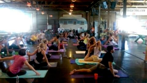 Teaching yoga at The Duce in Phoenix.