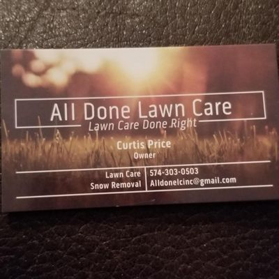Avatar for All Done Lawn Care, Inc Mishawaka, IN Thumbtack