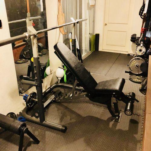 Adjustable Bench/squat rack.