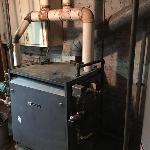 Old Steam boiler removed