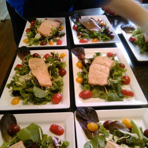 Poached Salmon Salad