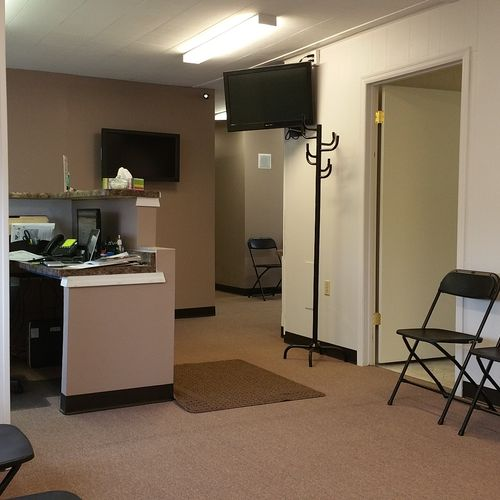 We offer light, comforting and relaxing music throughout the office as well other media such as digitized hours of operation and services via flat screen displays inside and outside of the building.