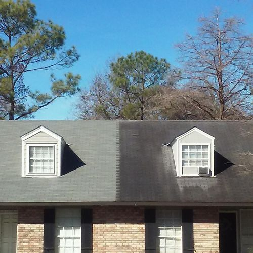 Roof cleaning before&after
