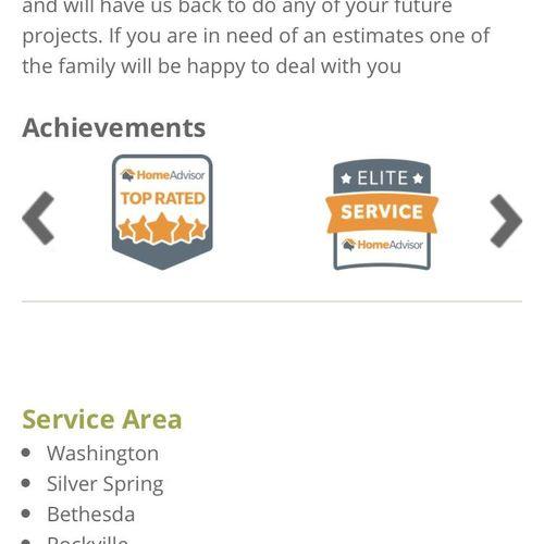 Recipient of multiple service awards