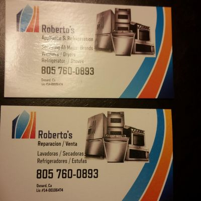 Avatar for Roberto's Appliance & Refrigeration