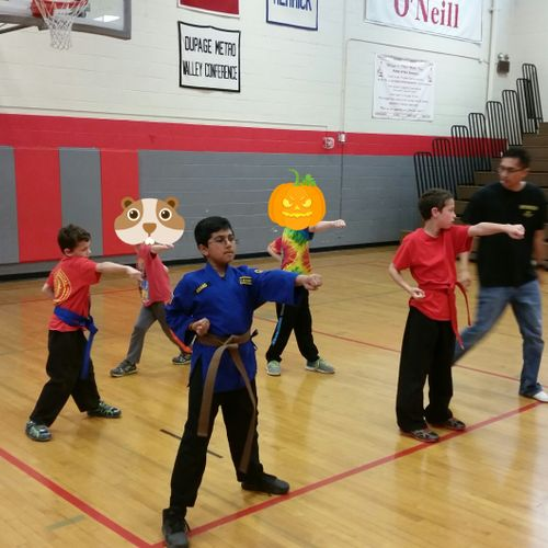 Straight punching drills help develop speed, power, and accuracy. A great drill that also helps children build coordination and control.