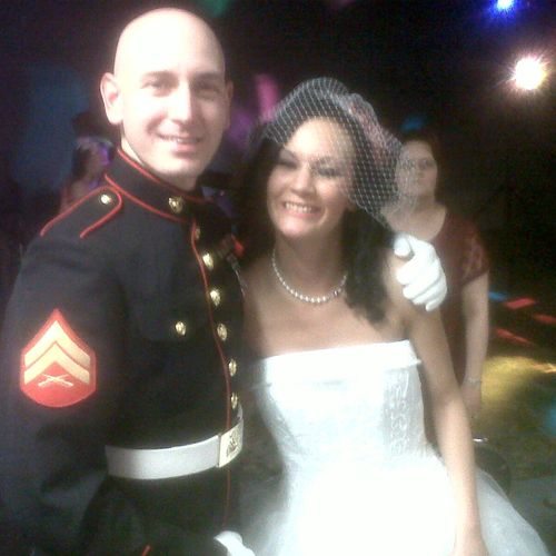 Corporal BJ Nave and his sister Lauren.