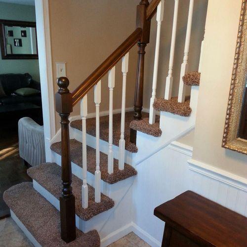 Built custom stair