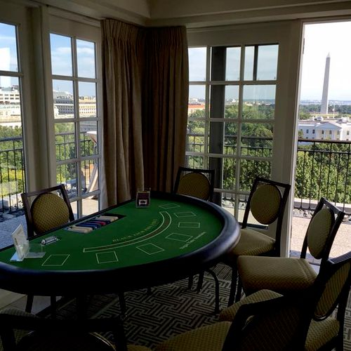 Casino Blackjack Table, overlooking the White House