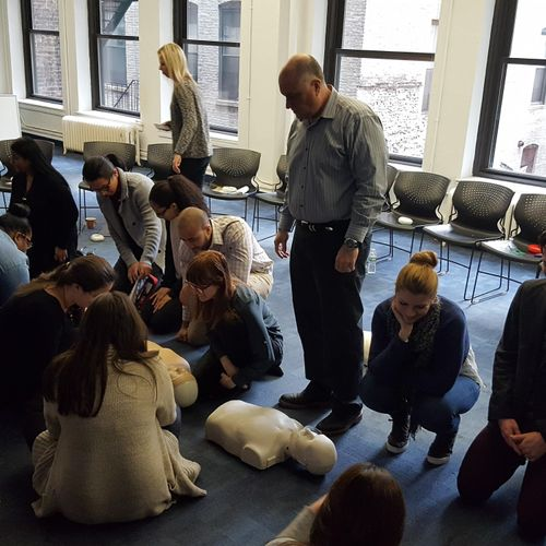 CPR class for a major children's furniture company in NYC
