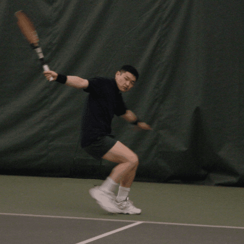 Once the technique and body alignment is there, backhand is all about maintaining footwork and balance.