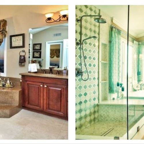 Before & After: Complete gutted modernization of this stunning large Master Bathroom