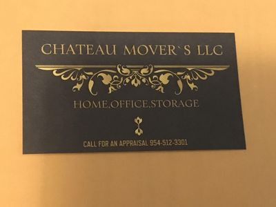 Avatar for chateau Movers LLC Delray Beach, FL Thumbtack