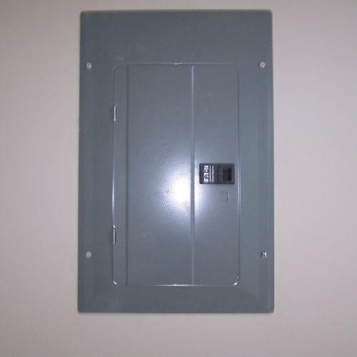 New 100 amp panel