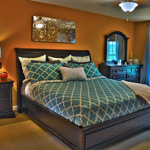 Centreville, VA client.  Master bedroom redesign.