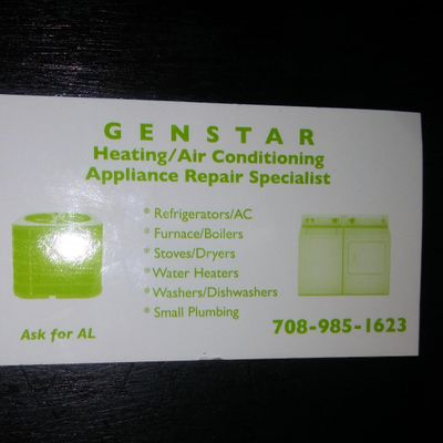 Avatar for Genstar heating and appliance repair specialist