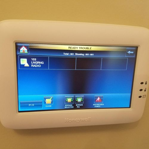 Touch screen home security control.