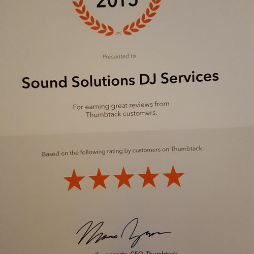 We love the recognition of our clients